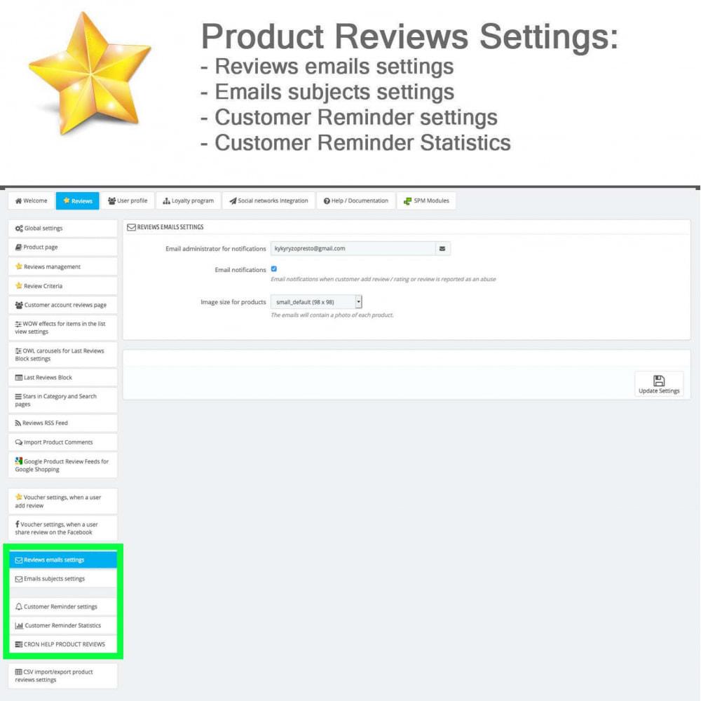 module - Widgets réseaux sociaux - Produit Avis + Programmes fidélité + Profil utilisateur - 32