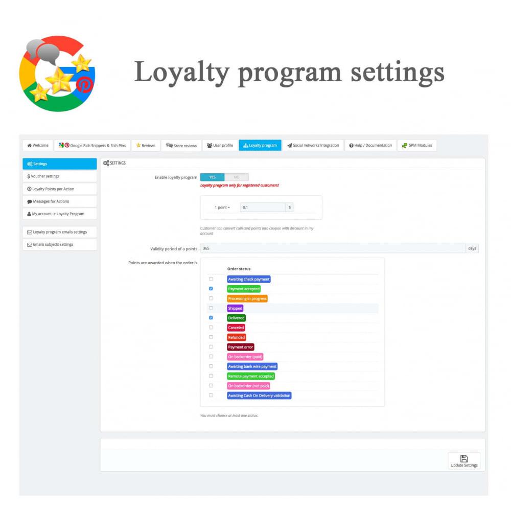 module - Avis clients - Produit+Boutique Avis, Points fidélité, Google Snippets - 52
