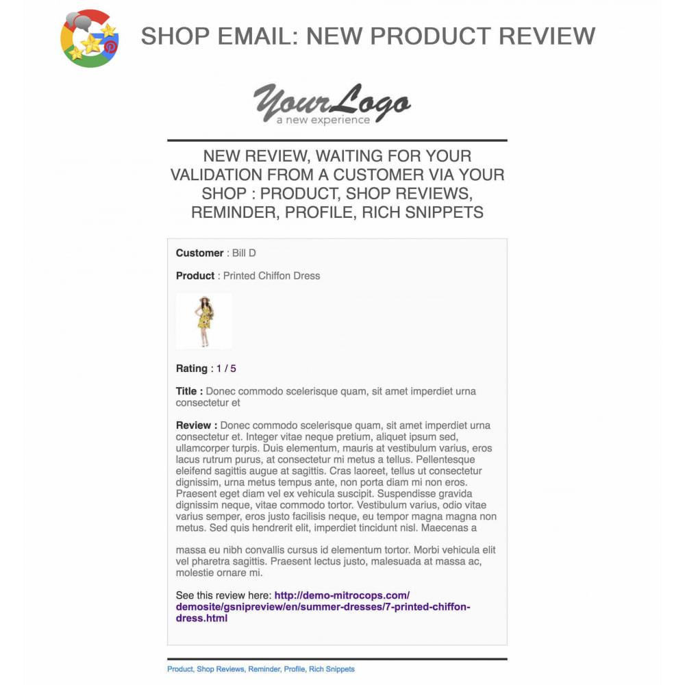 module - Avis clients - Produit+Boutique Avis, Points fidélité, Google Snippets - 57