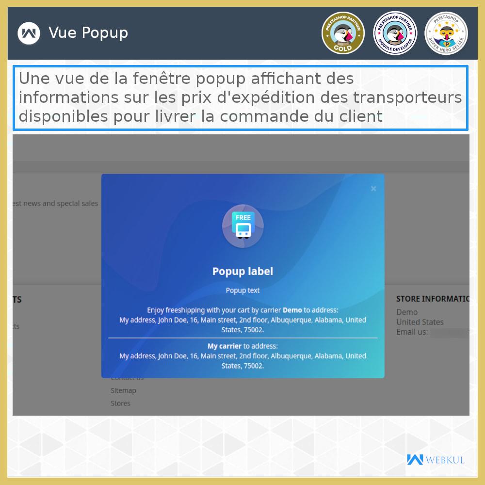 module - Transporteurs - Tarifs d'expédition - 1