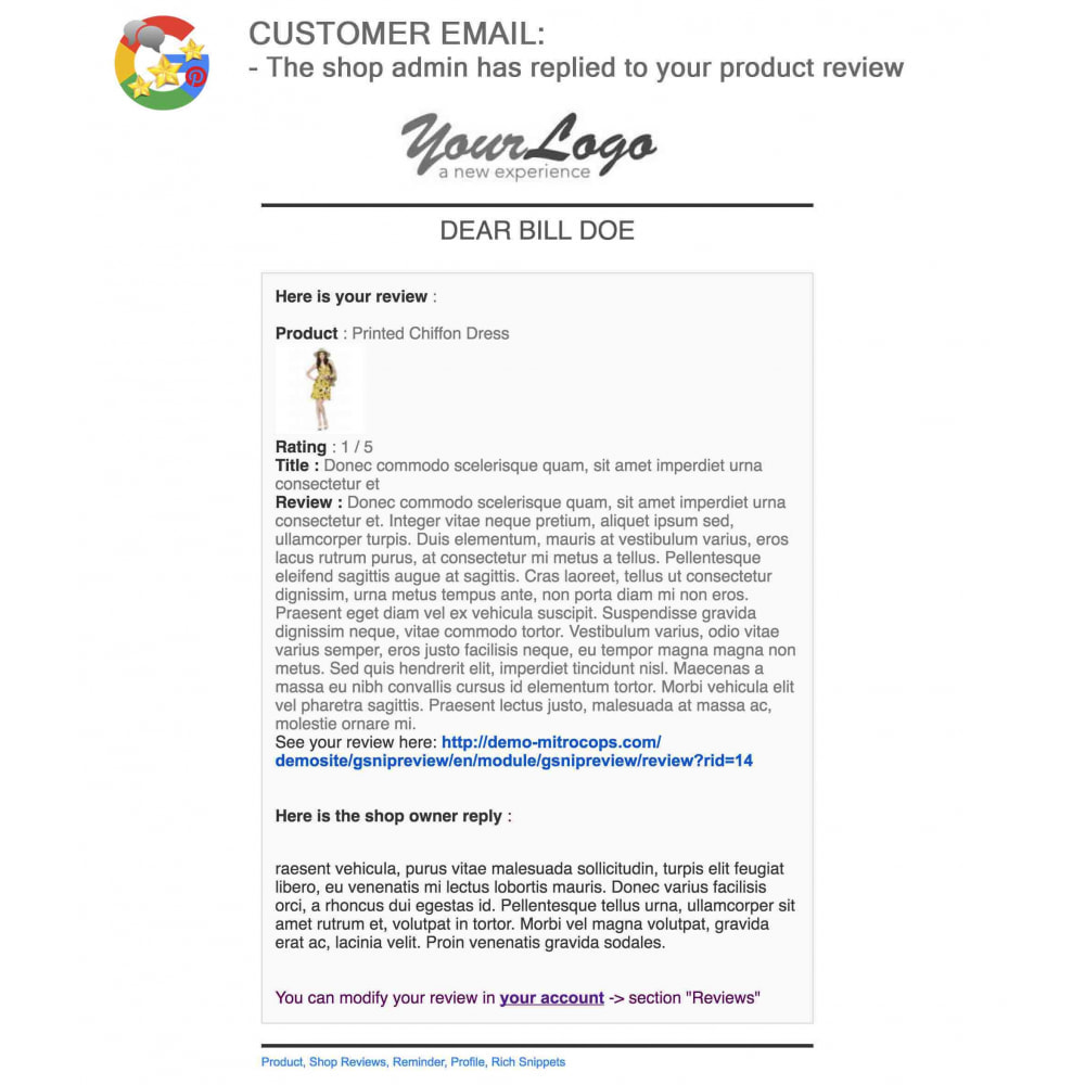module - Klantbeoordelingen - Product, Shop Reviews, Loyalty Program, Google Snippets - 62