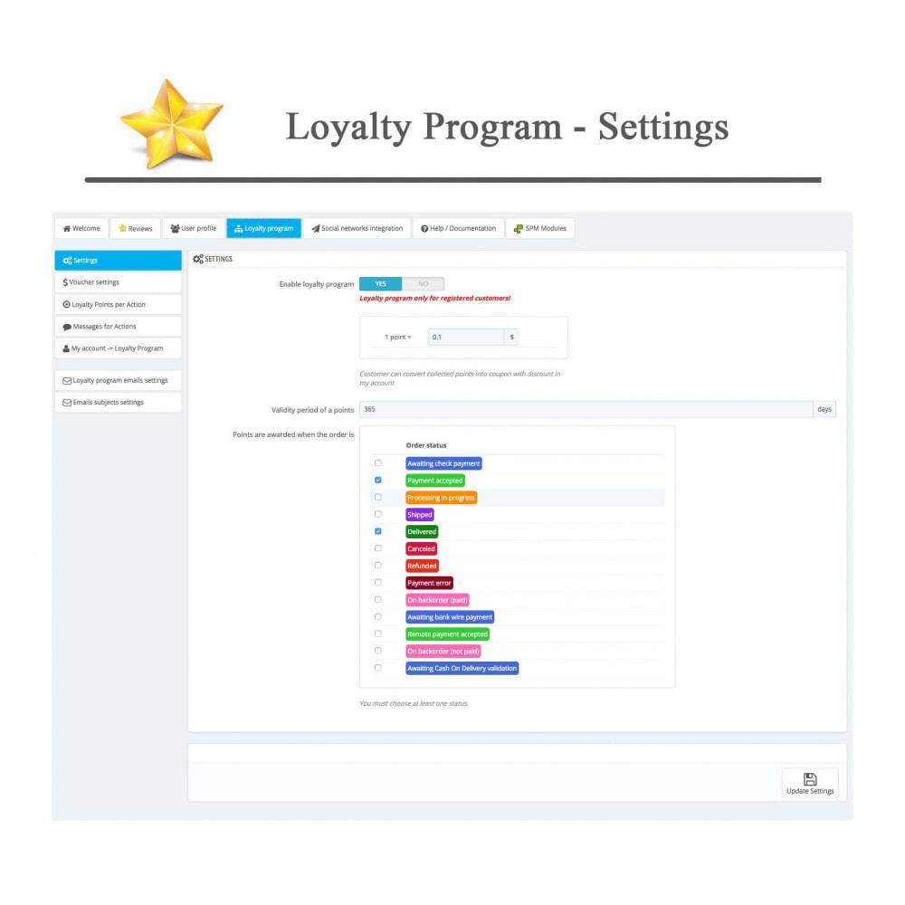 module - Sociale Widgets - Product Reviews PRO + Loyalty Program + User Profile - 38
