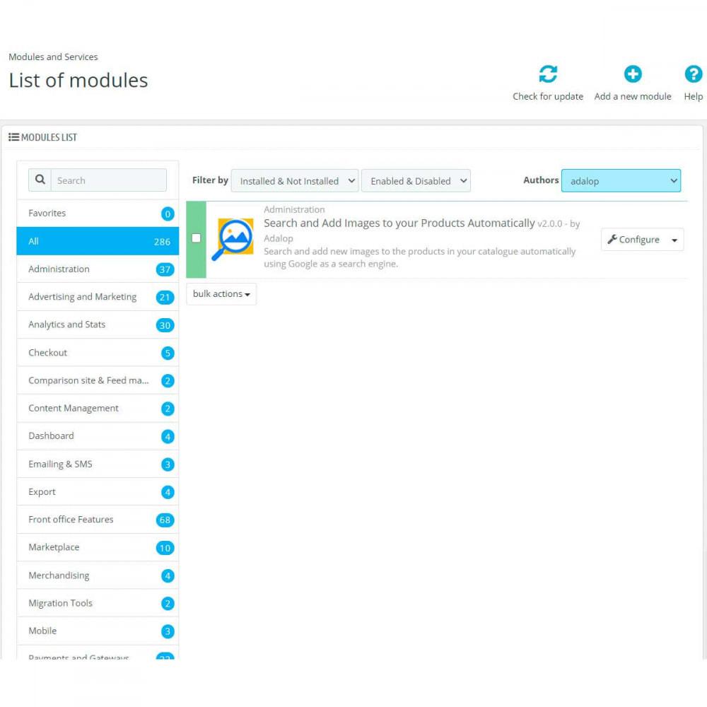module - Quick Eingabe & Massendatenverwaltung - Images von Google und Amazon zu Ihren Produkten - 2