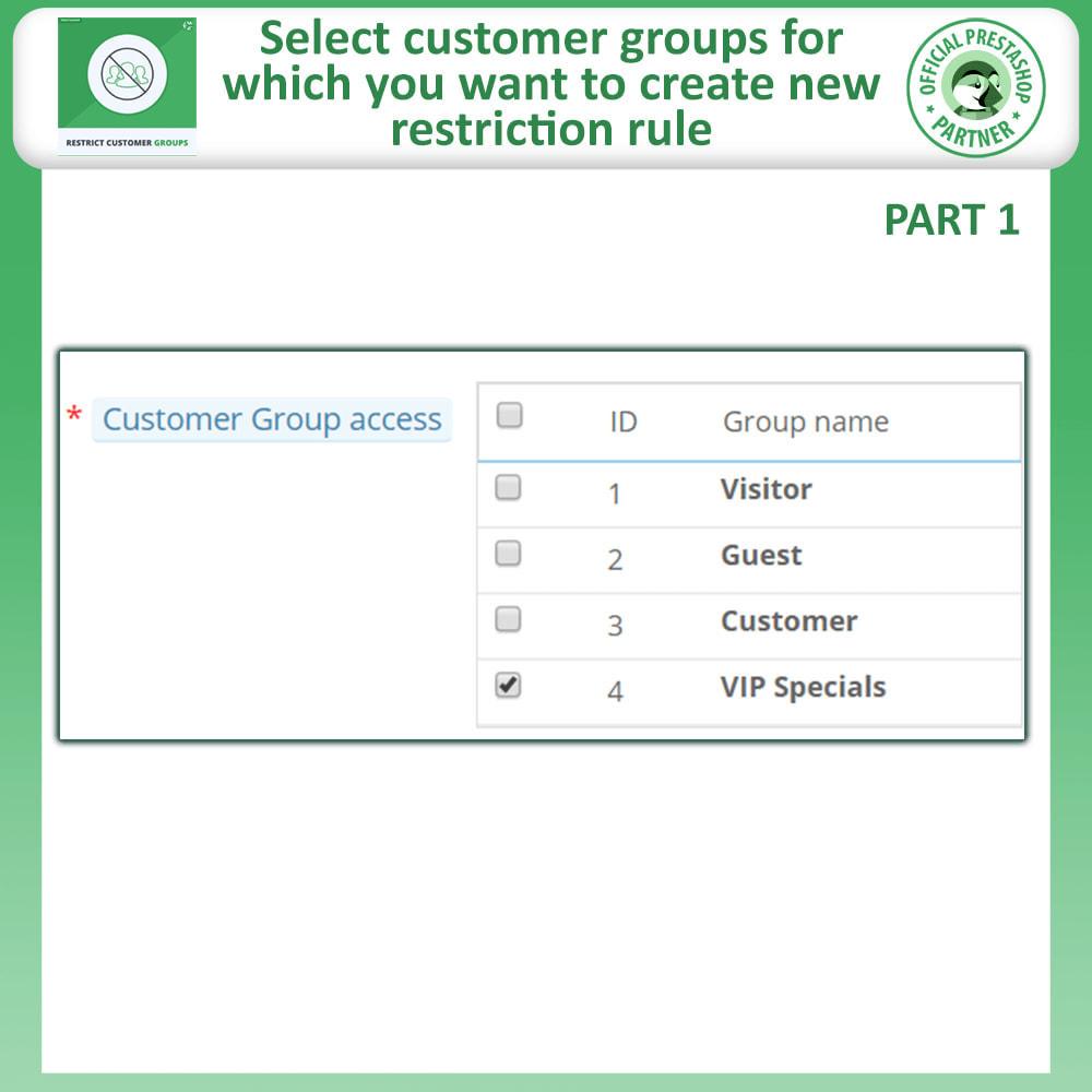 module - Informação Adicional & Aba de Produto - Restrict Products, Category & CMS By Customer Groups - 7