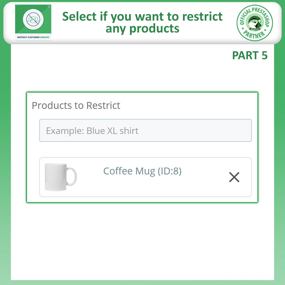 module - Informação Adicional & Aba de Produto - Restrict Products, Category & CMS By Customer Groups - 11