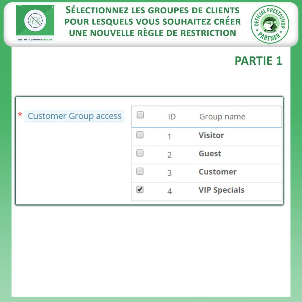 module - Information supplémentaire & Onglet produit - Restreindre par Groupe de Clients - Catalogue et CMS - 4