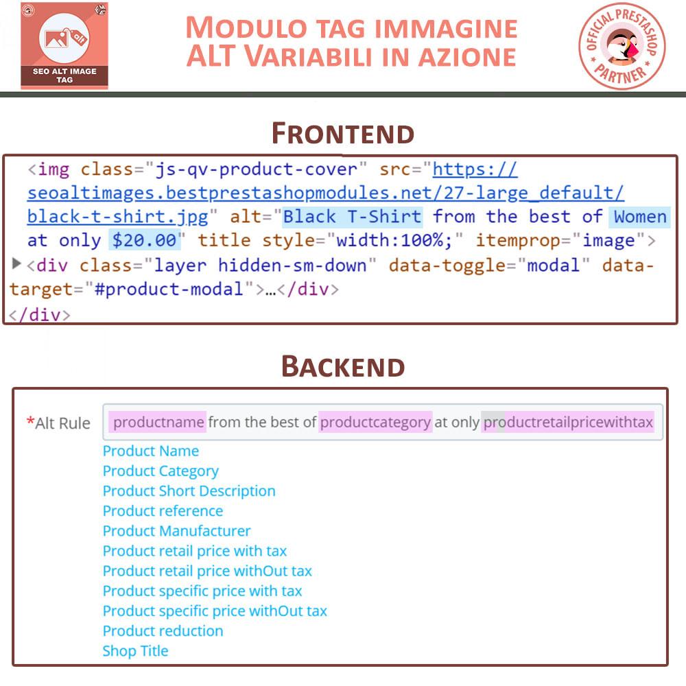 module - SEO (Indicizzazione naturale) - SEO Alt Image Tags - 3