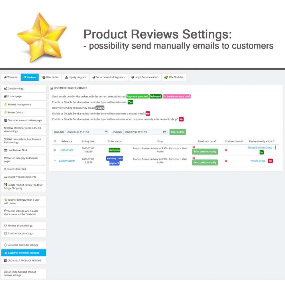 module - Widgets réseaux sociaux - Produit Avis + Programmes fidélité + Profil utilisateur - 34