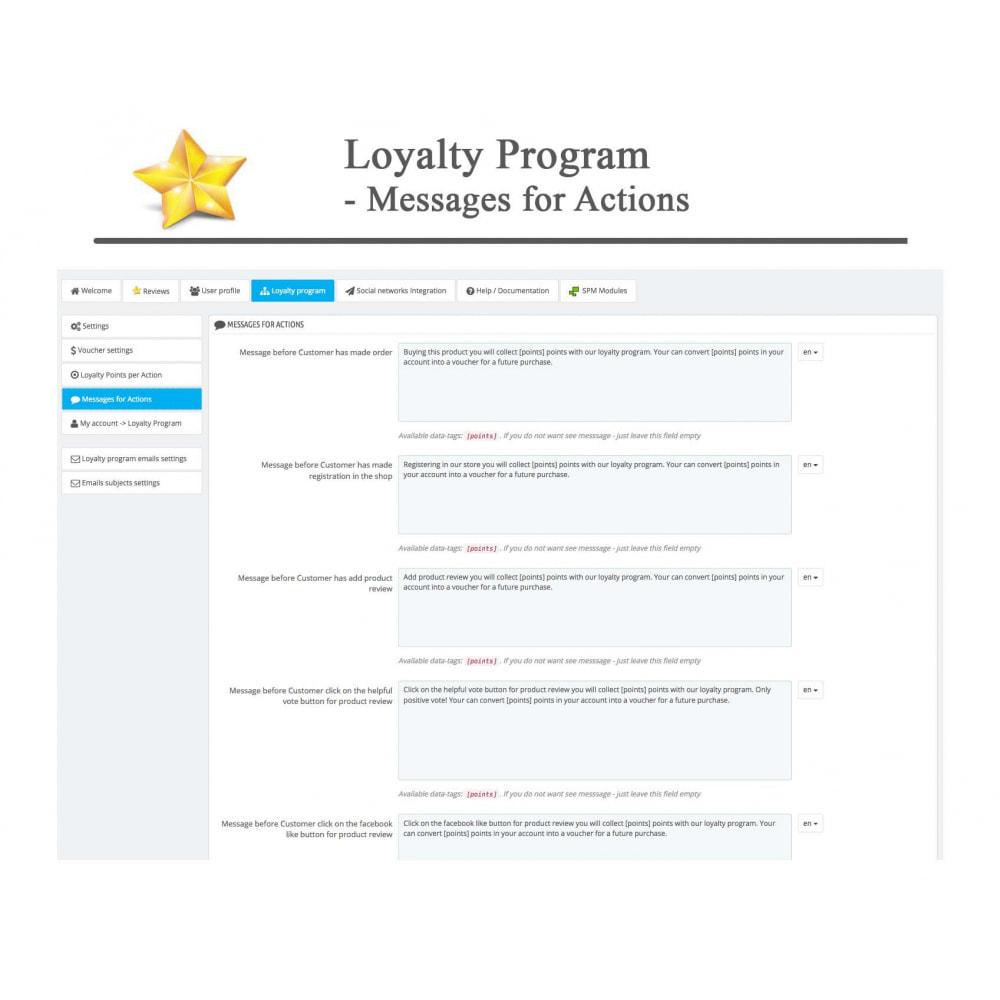 module - Widgets réseaux sociaux - Produit Avis + Programmes fidélité + Profil utilisateur - 40