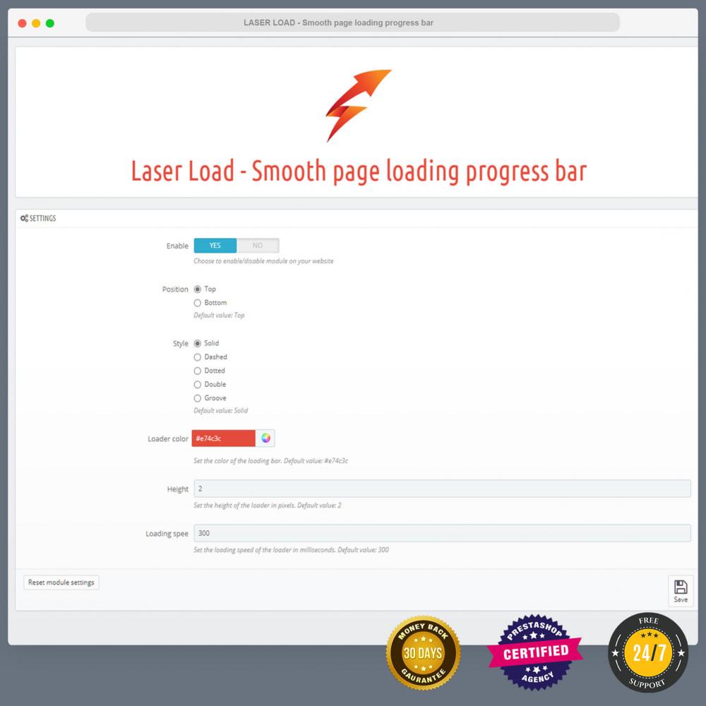 module - Rendimiento del sitio web - Laser Load - Smooth page loading progress bar - 2