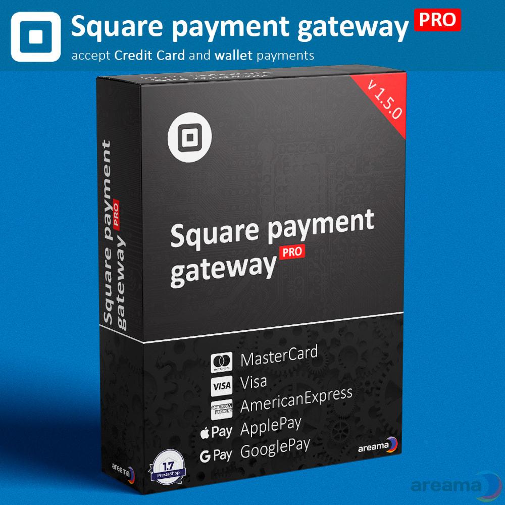 module - Paiement par Carte ou Wallet - Square Payment Gateway PRO - Card and Wallet payments - 1