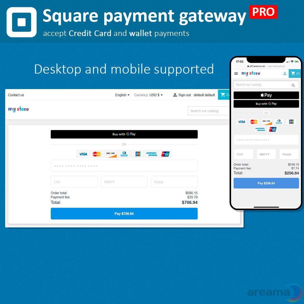 module - Paiement par Carte ou Wallet - Square Payment Gateway PRO - Card and Wallet payments - 2