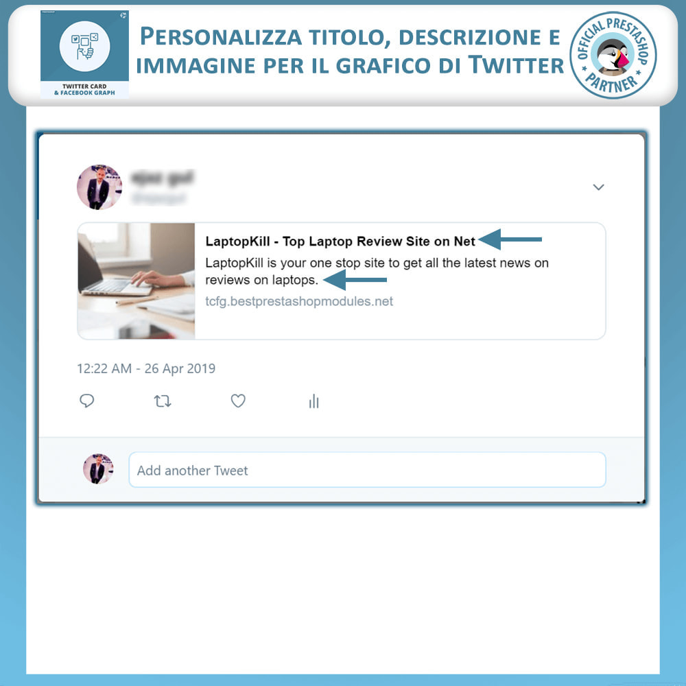 module - Social Widget - Twitter Card e Social Media Graph - 3