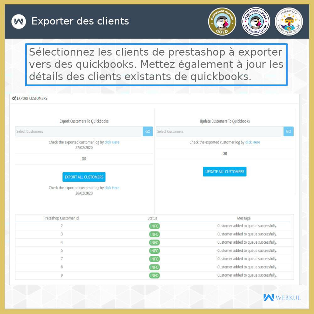 module - Connexion à un logiciel tiers (CRM, ERP...) - Connecteur de bureau QuickBooks - 3