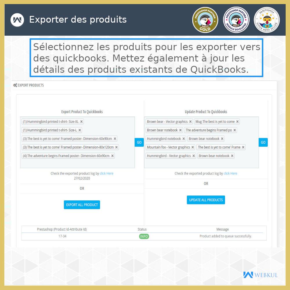 module - Connexion à un logiciel tiers (CRM, ERP...) - Connecteur de bureau QuickBooks - 5