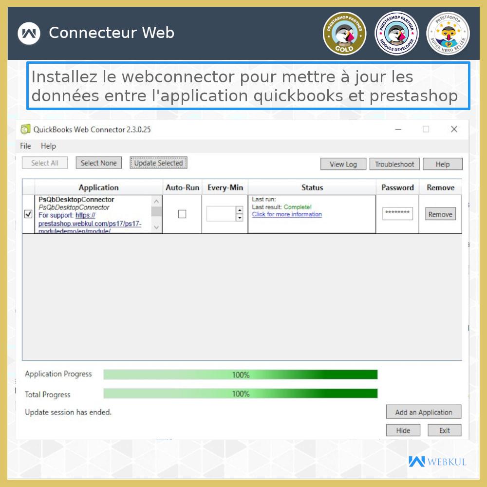 module - Connexion à un logiciel tiers (CRM, ERP...) - Connecteur de bureau QuickBooks - 16