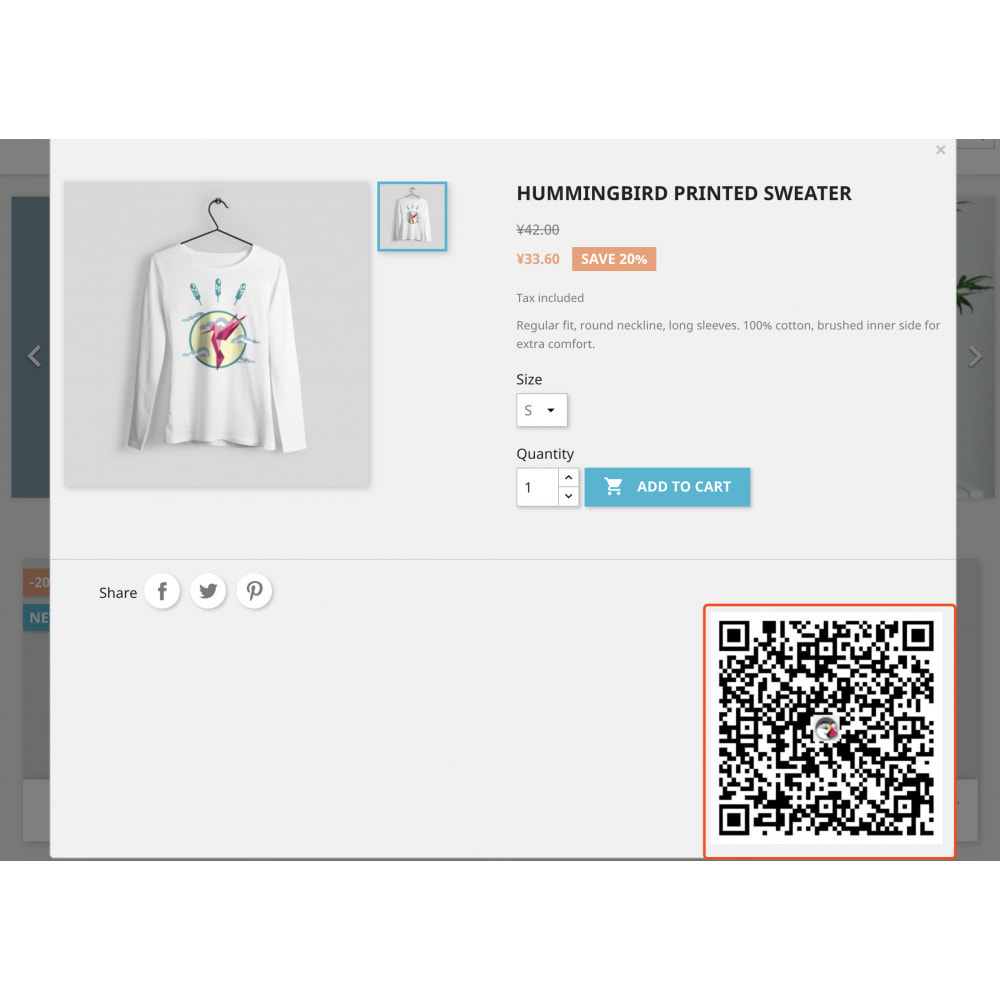 module - Dispositivi mobili - QR code scan generator that supports product attributes - 4