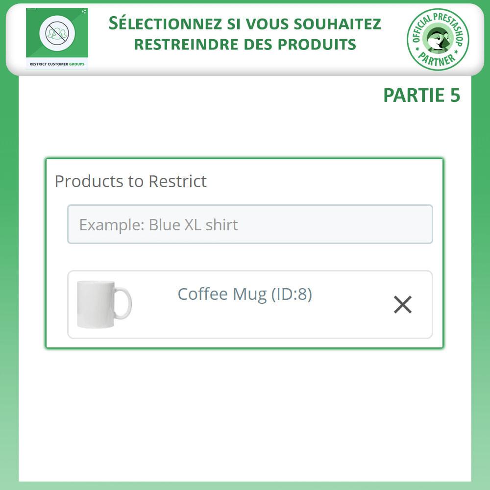 module - Information supplémentaire & Onglet produit - Restreindre par Groupe de Clients - Catalogue et CMS - 8