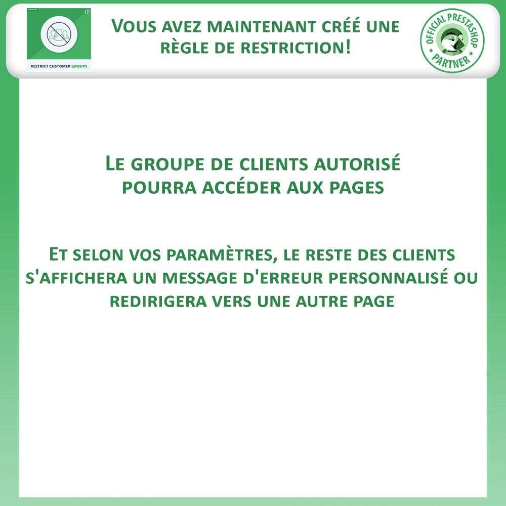 module - Information supplémentaire & Onglet produit - Restreindre par Groupe de Clients - Catalogue et CMS - 10