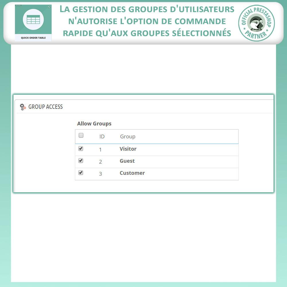module - Gestion des Commandes - Quick Order Table - 9