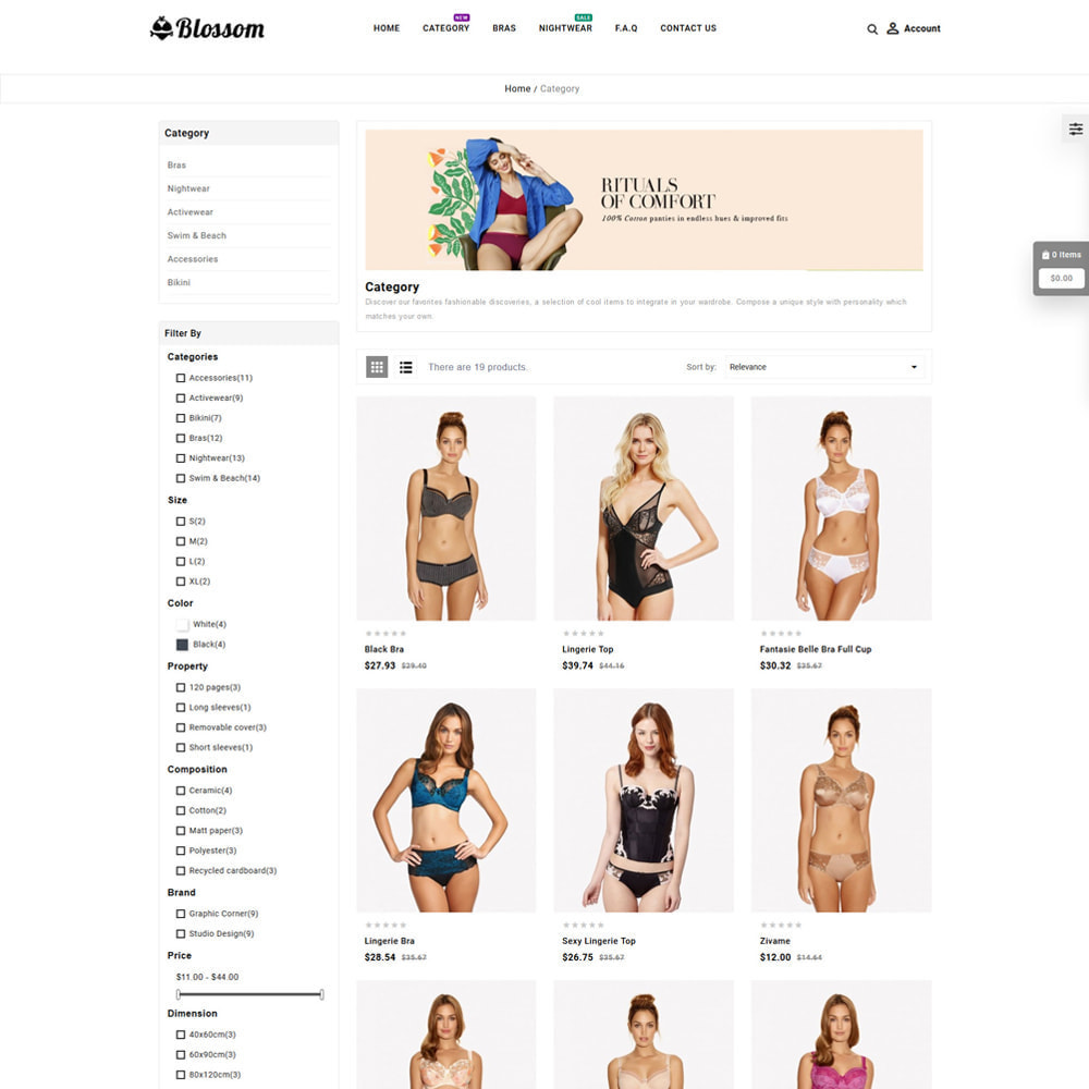 theme - Lingerie & Adultos - Blossom Lingerie Store - 3