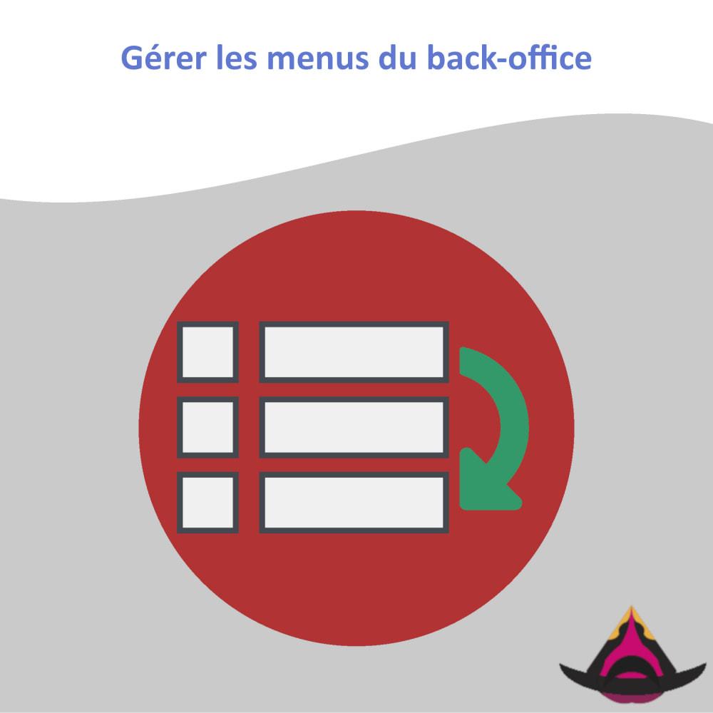 module - Menu - Gérer la disposition des menus du back-office - 1