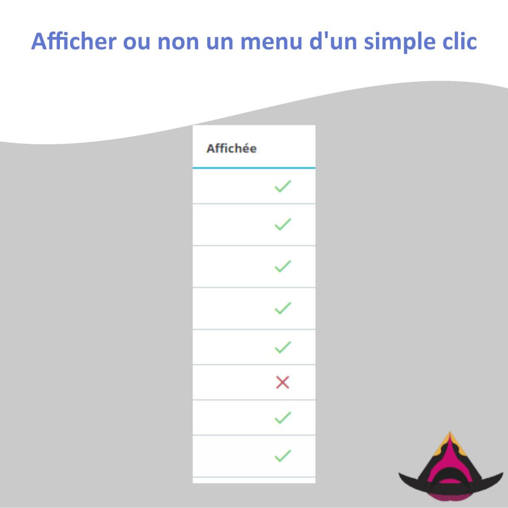 module - Menu - Gérer la disposition des menus du back-office - 3