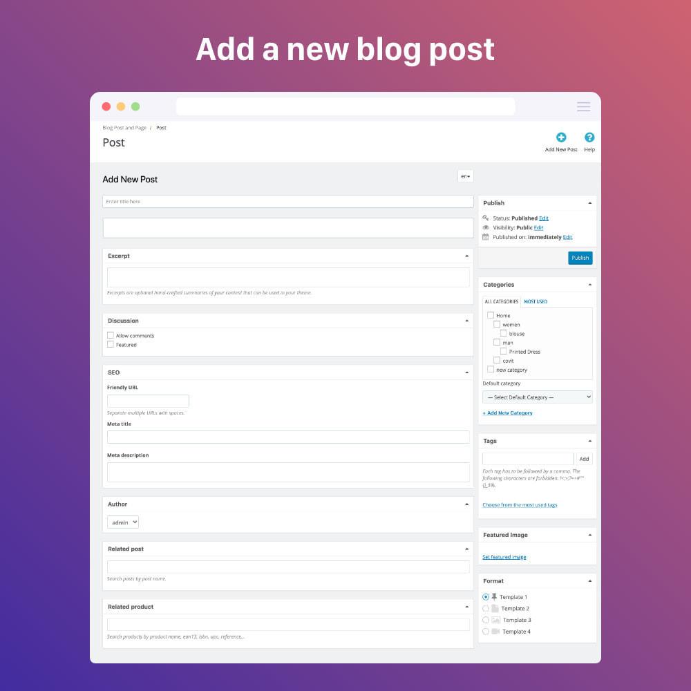 module - Blog, Forum & Actualités - Blog professional - Wordpress UI - 1
