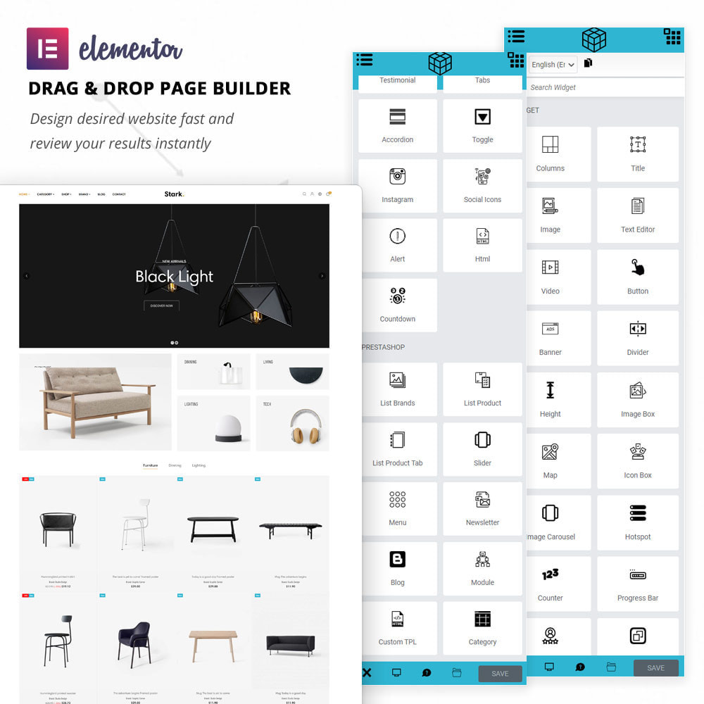 theme - Dom & Ogród - Stark - Furniture & Home Decor Elementor - 2
