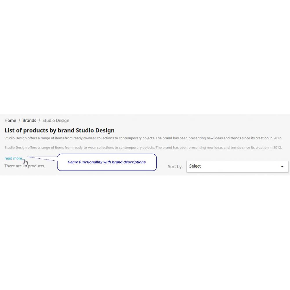 module - Informação Adicional & Aba de Produto - Expandable Descriptions -