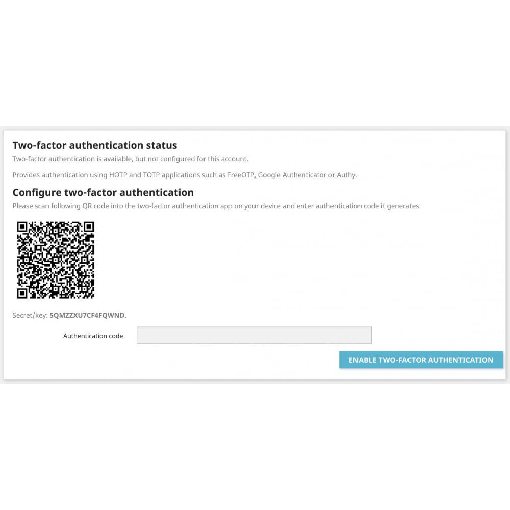 module - Sécurité & Accès - Google Two-factor Authenticator For Front Office - 5