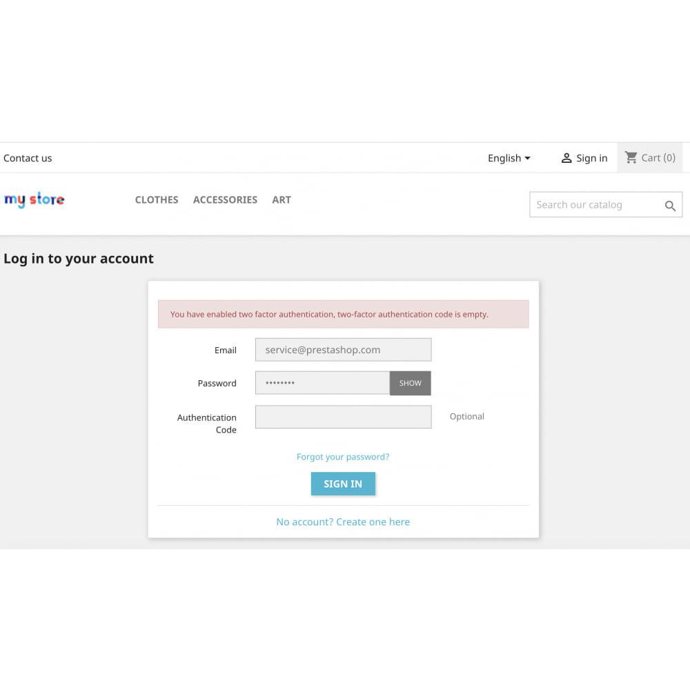module - Sécurité & Accès - Google Two-factor Authenticator For Front Office - 9