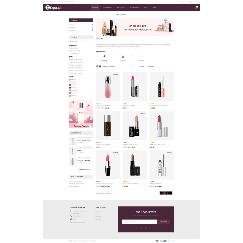 theme - Health & Beauty - Elegant - Cosmetic Store - 3