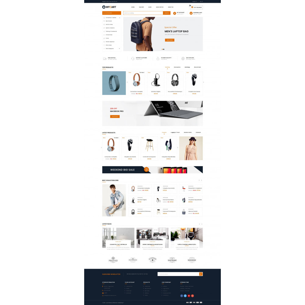 theme - Electronics & Computers - MyCart - Online Mega Store - 2