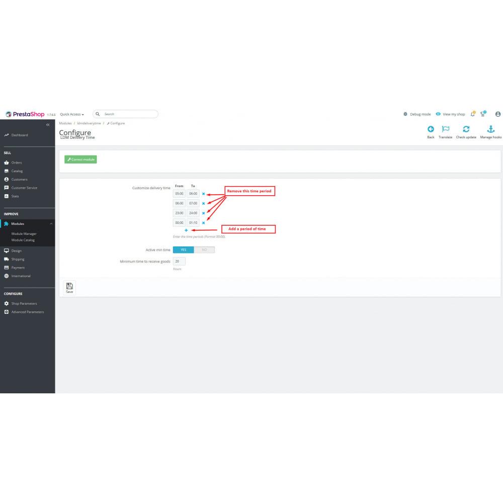 module - Data de entrega - Delivery time - 4