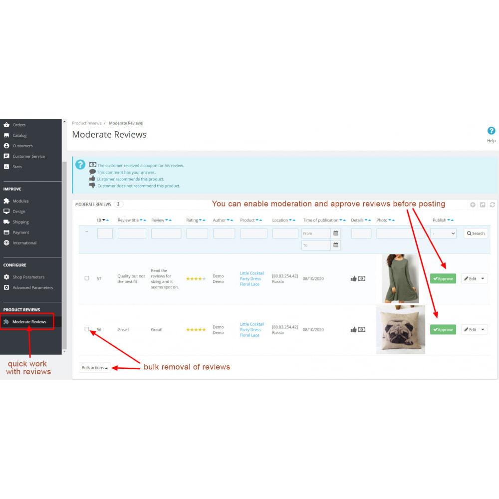 module - Customer Reviews - Advanced Reviews: Photos, Reminder, Google Snippets - 12