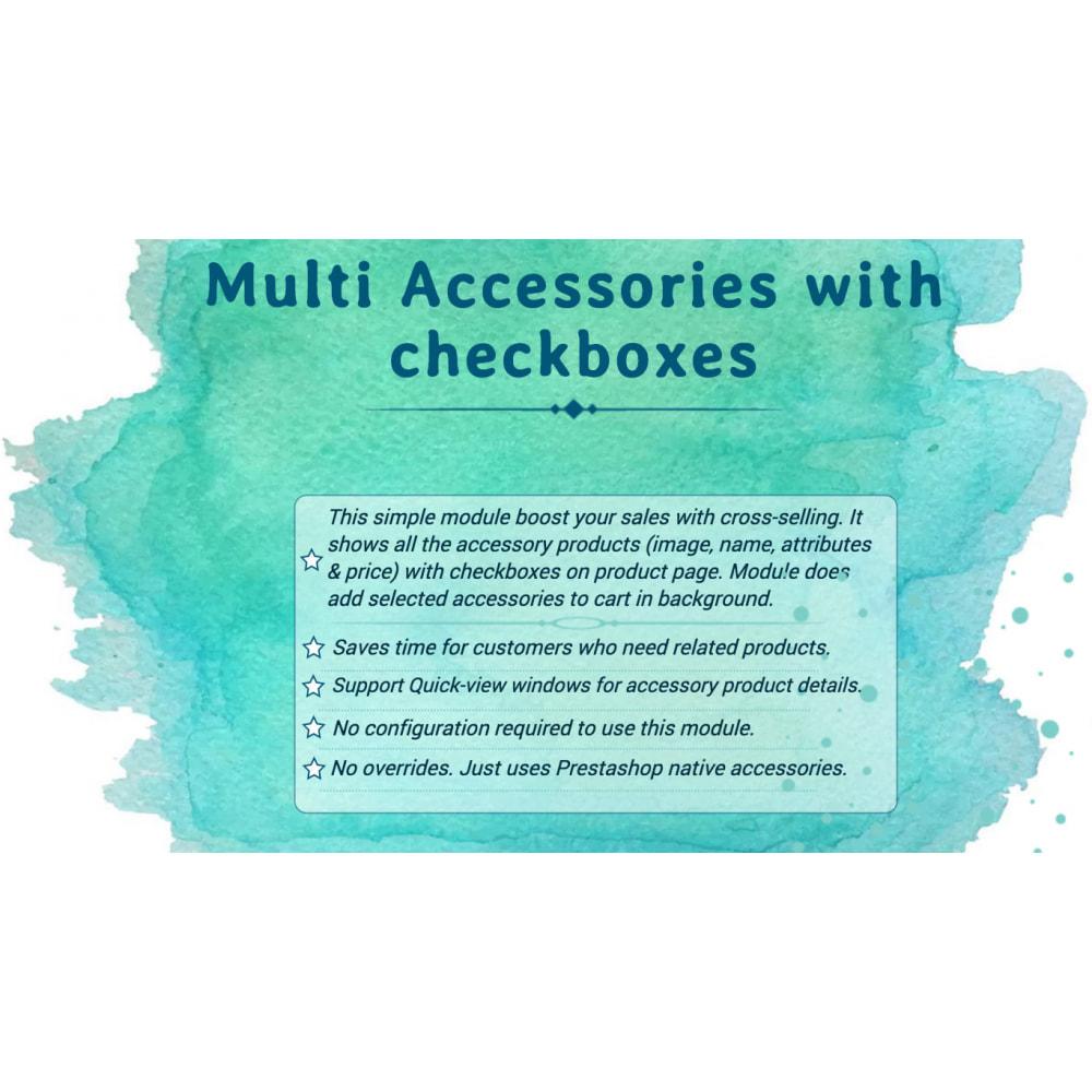 module - Ventas cruzadas y Packs de productos - Multi Accessories with Checkboxes - 1