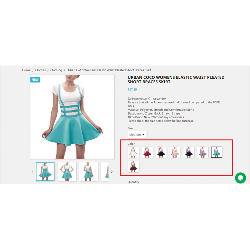 module - Combinations & Product Customization - Product Combination Images Swatch | Attributes - 1