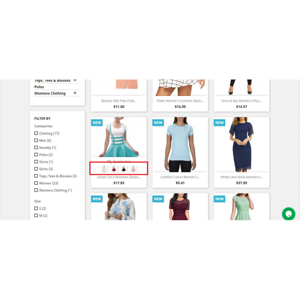 module - Combinations & Product Customization - Product Combination Images Swatch | Attributes - 2