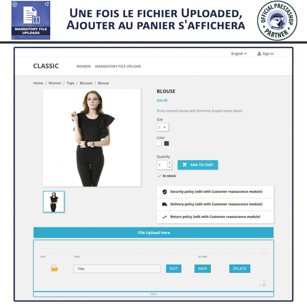 module - Information supplémentaire & Onglet produit - Téléchargement De Fichier Obligatoire - 4
