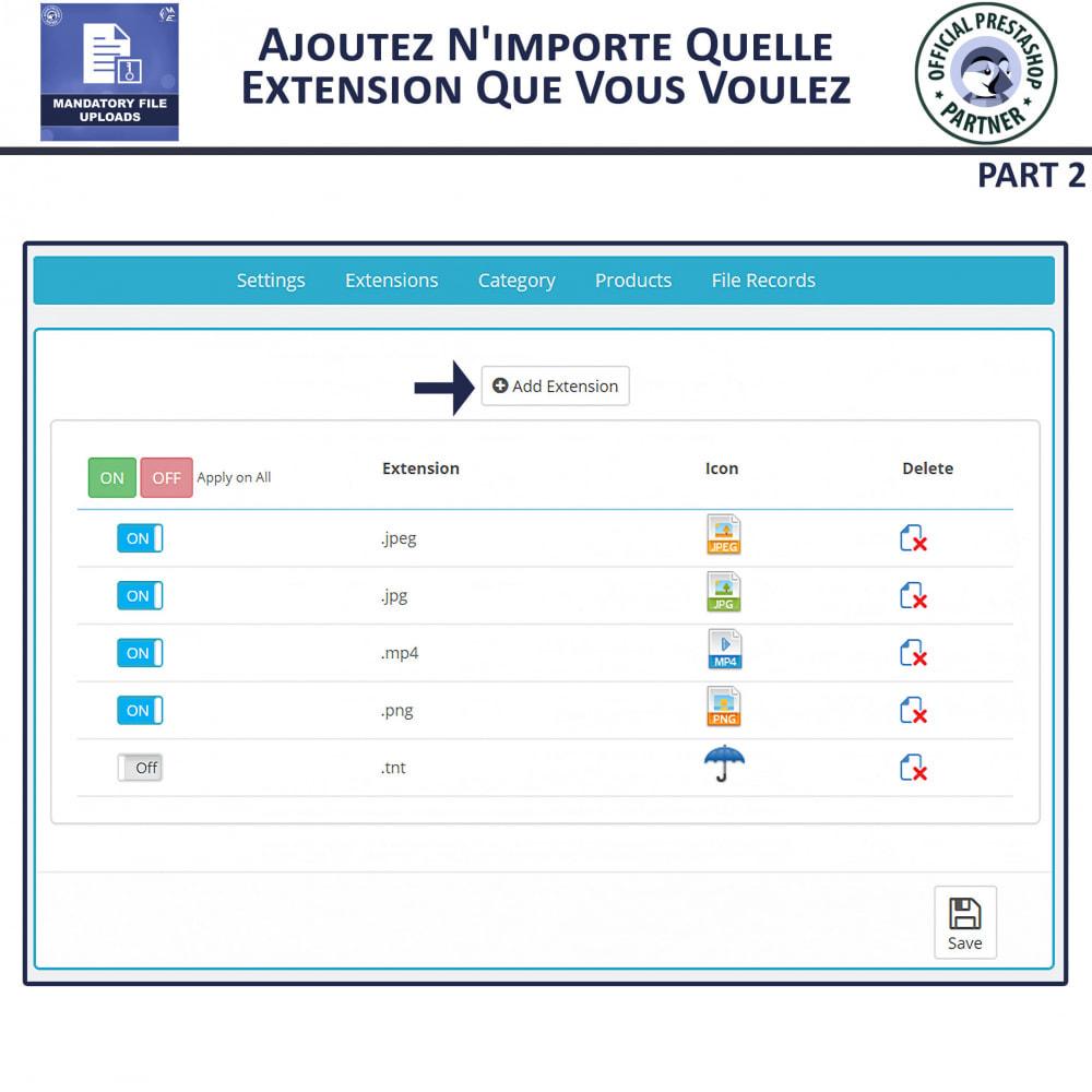 module - Information supplémentaire & Onglet produit - Téléchargement De Fichier Obligatoire - 6
