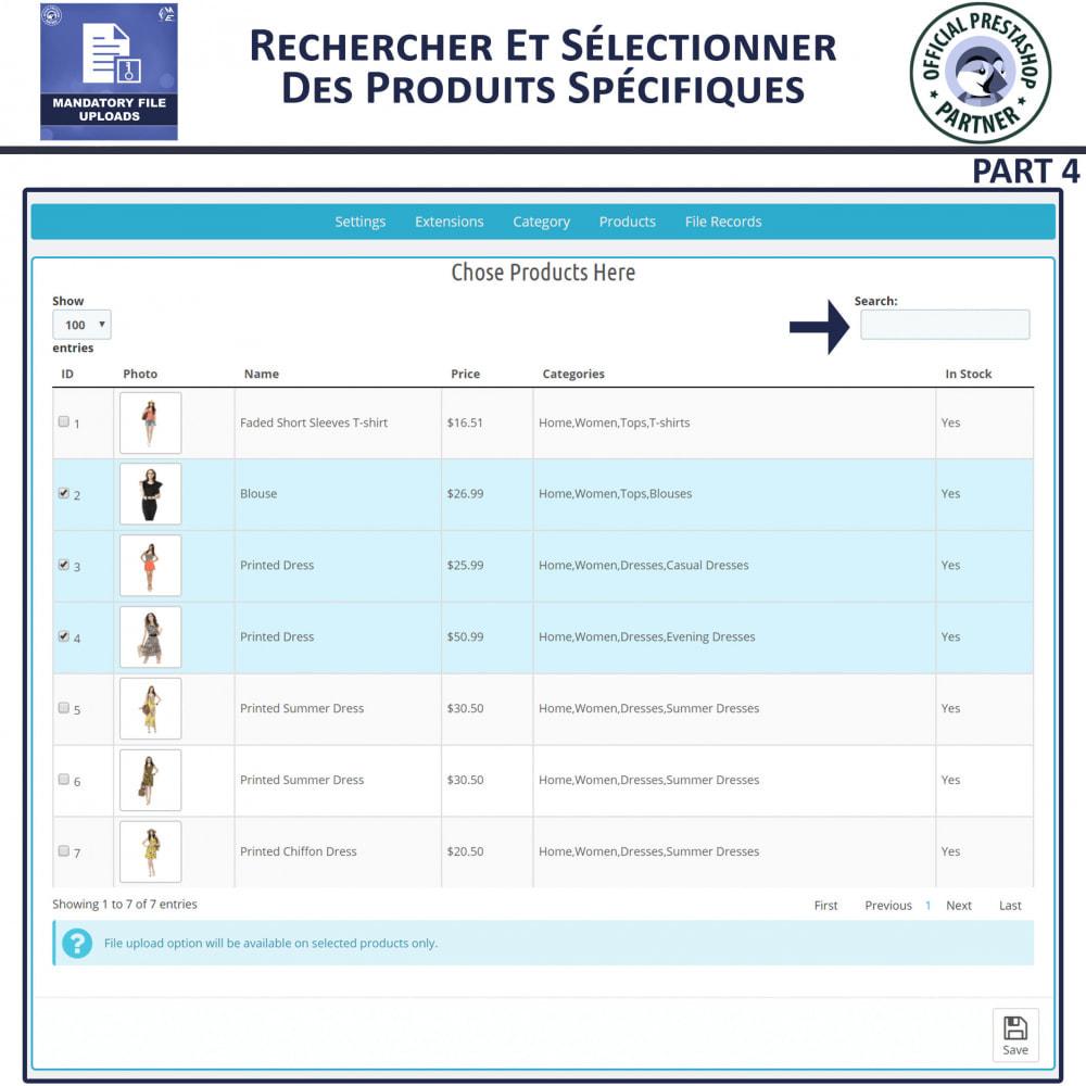 module - Information supplémentaire & Onglet produit - Téléchargement De Fichier Obligatoire - 8