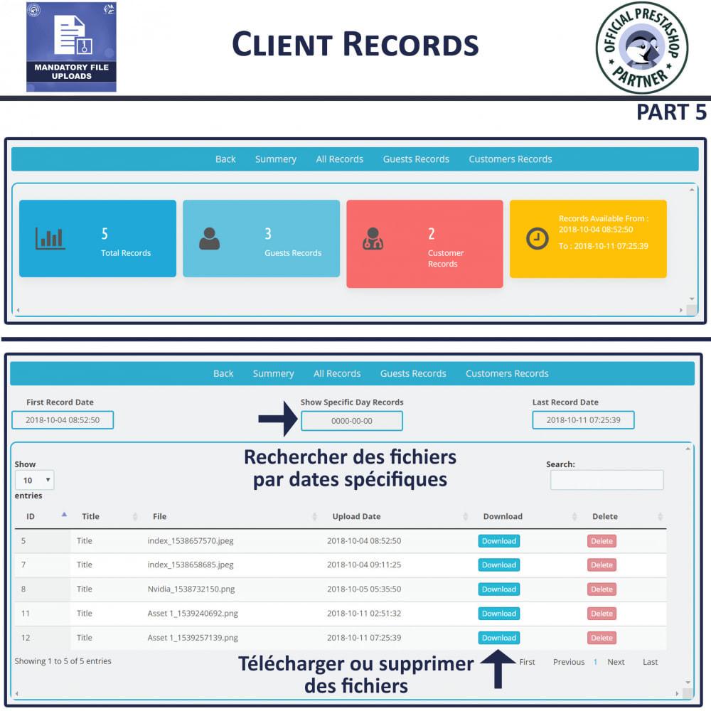 module - Information supplémentaire & Onglet produit - Téléchargement De Fichier Obligatoire - 9