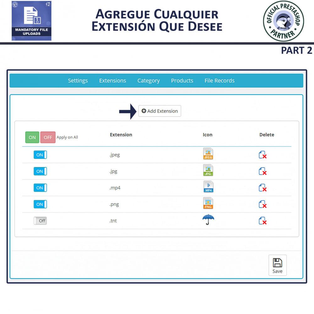 module - Informaciones adicionales y Pestañas - Carga De Archivo Obligatoria - 6