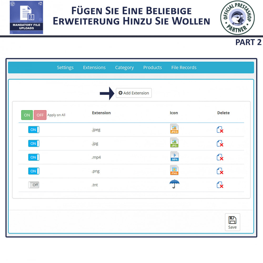 module - Zusatzinformationen & Produkt-Tabs - Obligatorisches Hochladen Von Dateien - 6