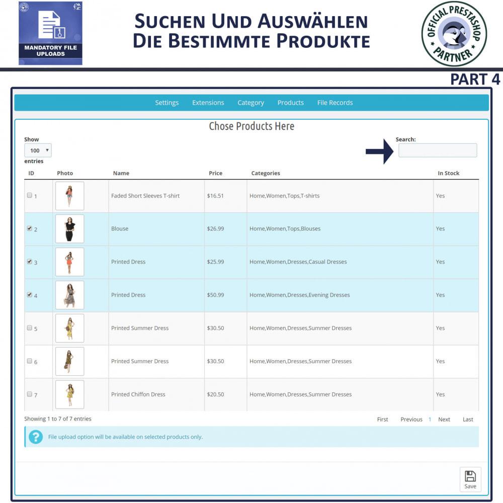 module - Zusatzinformationen & Produkt-Tabs - Obligatorisches Hochladen Von Dateien - 8