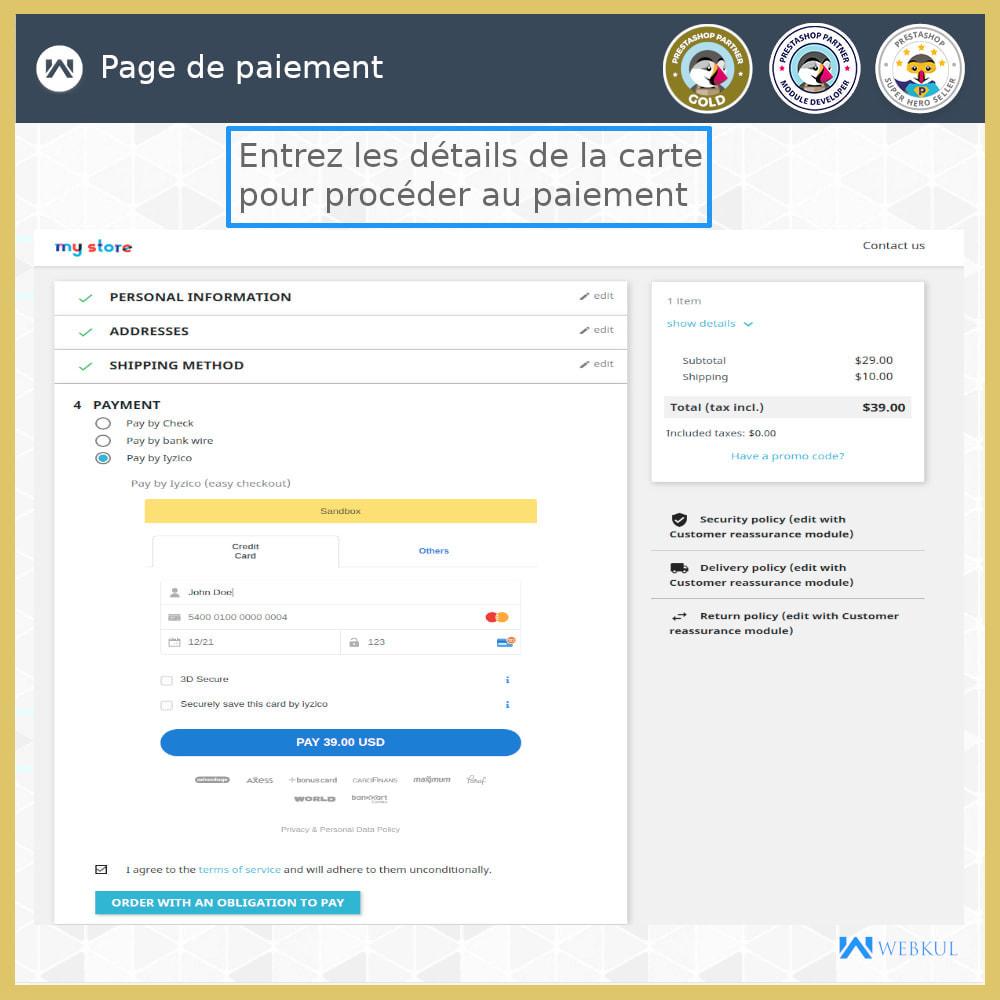 module - Paiement par Carte ou Wallet - Passerelle de paiement Iyzico - 4