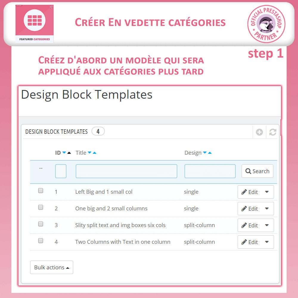 module - Personnalisation de Page - Catégories Vedettes - 9