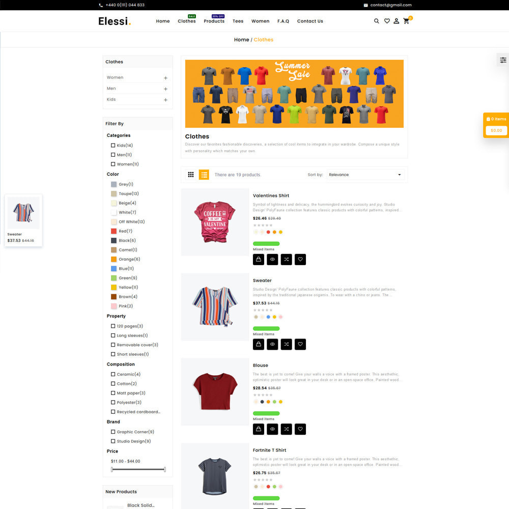theme - Mode & Schoenen - Elessi Fashion Store - 4