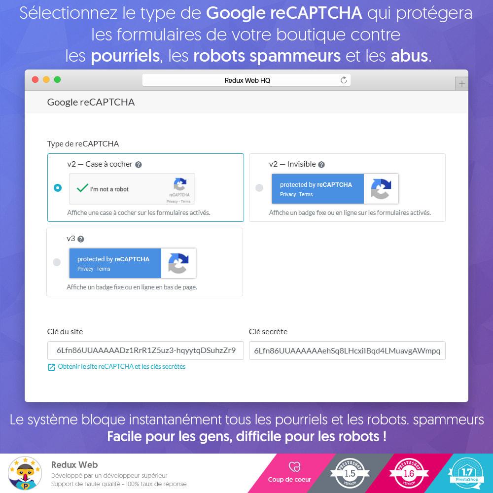 module - Sécurité & Accès - Antispam et Faux Comptes Google Re-Captcha Avancé - 3
